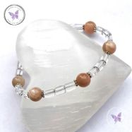 Sunstone & Clear Quartz Bracelet